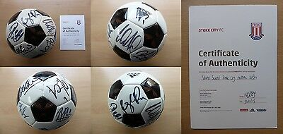 2013-14 Stoke City Multi Signed Football Official COA from Stoke City FC (9363)