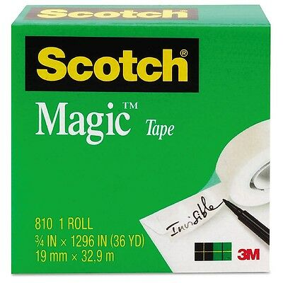"Scotch Magic Tape, Clear 3/4"" x 1296"" 1 ea"