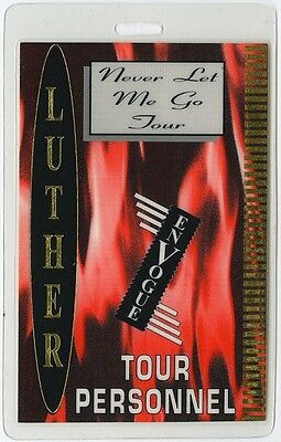Luther Vandross authentic 1993 concert tour Laminated Backstage Pass