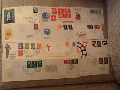 12  NEDERLANDS FIRST DAY/COMMEMORATIVES COVERS 1950s/60s