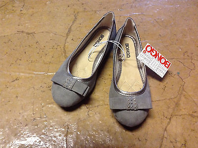 1b61fe60a01 Bongo Women s gray suede flats shoes ballet style with bow CHOOSE SIZE