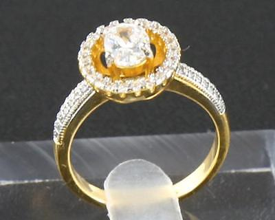 2.32ct  Natural  Diamond 14kt Yellow  Gold Rings Size6