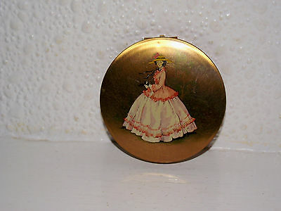 Vintage Stratton  Powder Compact With Lady.