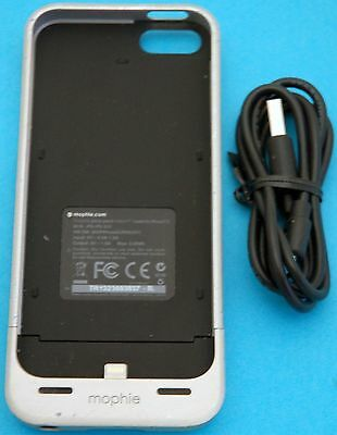 e683bd033d4 Silver Mophie Juice Pack Helium iPhone 5/5s/SE Case 1500mAh Battery Charger  USED