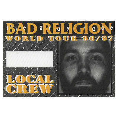 Bad Religion authentic Local Crew 1996 tour Backstage Pass