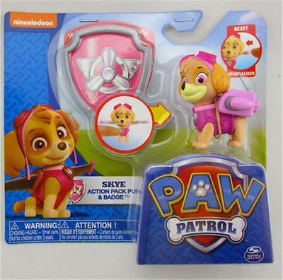 Paw Patrol Action Pack Pup Deformation dog backpack projectile toys and shield-z