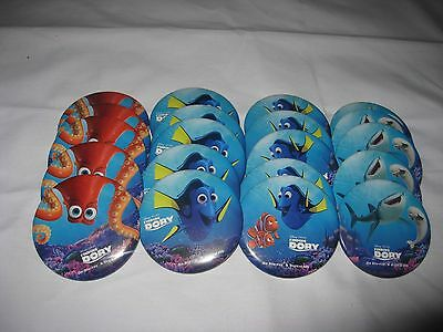 """Disney Pixar Finding Dory 3"""" Lapel Party Pins 4 Pictures 20 Pins Lot New"""