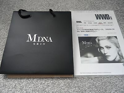 Madonna Japanese Promo Only Mdna Skin Bag With Flyer For Launch In Japan Only