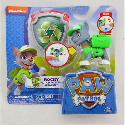 Paw Patrol Action Pack Pup Deformation dog backpack projectile toys+Shield Green
