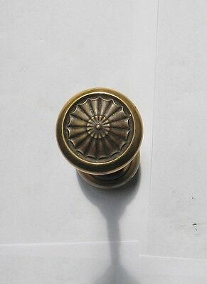 Antique Sculptered Brass Door Knob