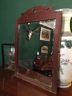 Victorian Antique Bevelled Wall Mirror