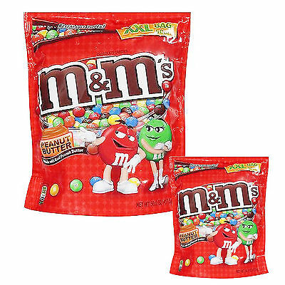Original Peanut Butter M&M'S Chocolate American Hard Candy Sweets Flavor XXL Bag