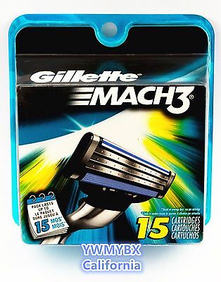 Gillette Mach3, 15 Cartridges, Brand New, Seal in Original Package. #014E