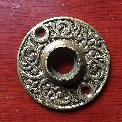 Antique Ornate Fancy Brass EASTLAKE Door Knob ROSETTE Backplate Cover