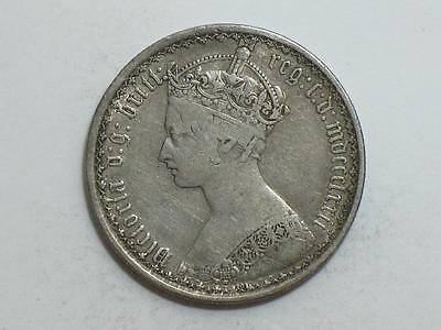 1872 Great Britain Florin - Old Silver Coin
