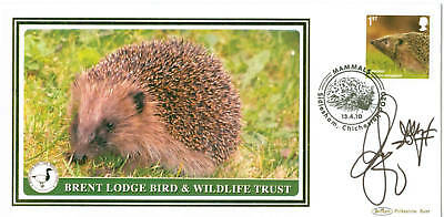 Hedgehog First Day Cover signed by Chris Packham
