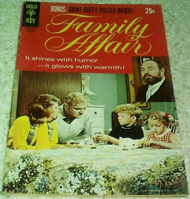 Family Affair #1, (FN 6.0) 1970 Photo covers! With Scarce poster!