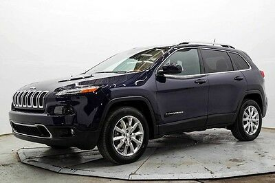 2015 Jeep Cherokee Limited 4WD Limited 4X4 Rear Camera Leather Htd Seats Sat Radio Bluetooth 14K Must See Save