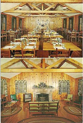 The Ranche Motel and Restaurant in Blowing Rock NC Postcard