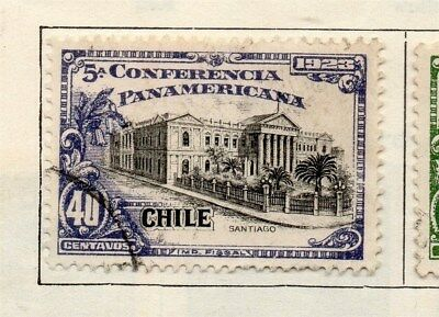 Chile 1923 Early Issue Fine Used 40c. 112834