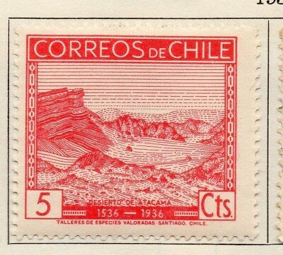 Chile 1936 Early Issue Fine Mint Hinged 5c. 112893
