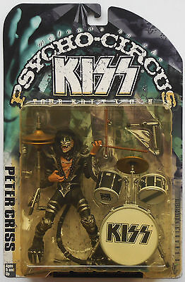 Peter Criss - Kiss Psycho Circus ACTION FIGURE 1998 McFarlane NEW in Bubble Pack