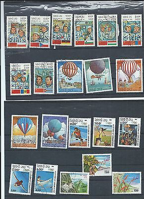 Laos stamps. Small used/CTo lot from 1983 (X594)