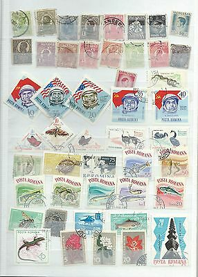 Romania stamps. Stock page of used. (S626)