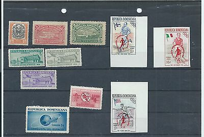 Dominican Republic stamps. Small MH lot (X657)