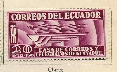 Ecuador 1934-35 Early Issue Fine Mint Hinged 20c. 113528