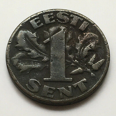 1929 Estonia 1 Sent (Reform Coinage) - Only Year of Issue #FP146