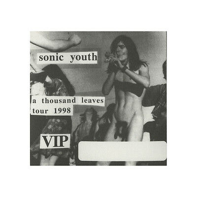 Sonic Youth authentic VIP 1998 tour Backstage Pass