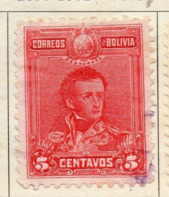 Bolivia 1899-1901 Early Issue Fine Used 5c. 113746