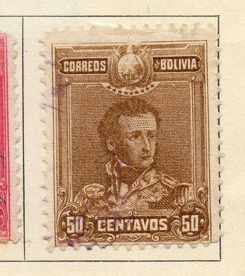 Bolivia 1899-1901 Early Issue Fine Mint Hinged 50c. 113749