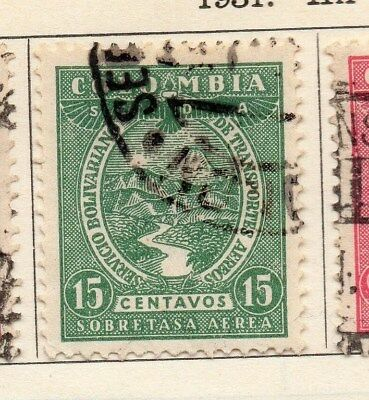 Colombia 1931 Early Issue Fine Used 15c. 113077