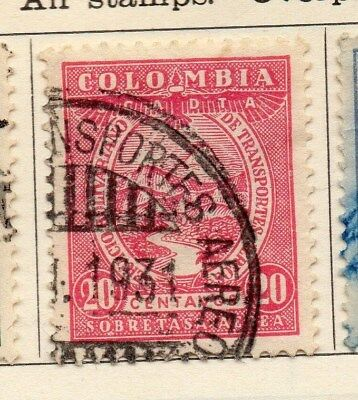 Colombia 1931 Early Issue Fine Used 20c. 113078