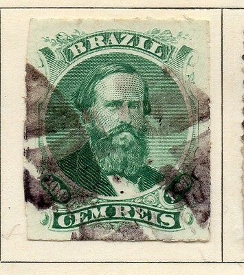 Brazil 1876 Early Issue Fine Used 200r. 113178