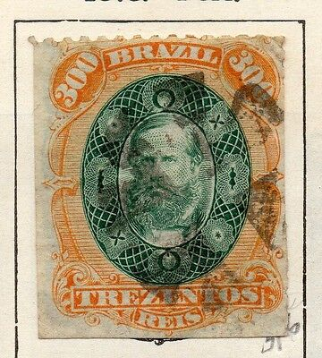 Brazil 1878 Early Issue Fine Used 300r. 113180