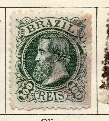 Brazil 1881 Early Issue Fine Used 100r. 113192