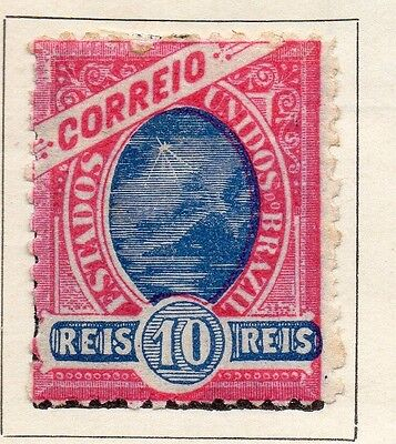 Brazil 1897 Early Issue Fine Mint Hinged 10r. 113222
