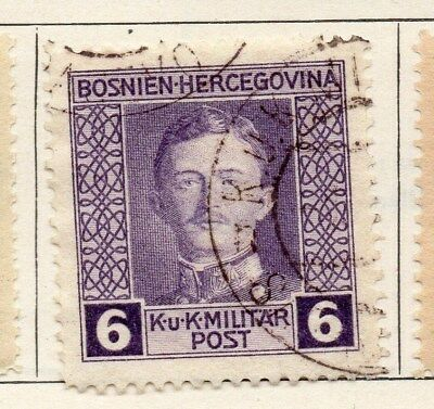 Bosnia Herzegovina 1917 Early Issue Fine Used 6h. 113413
