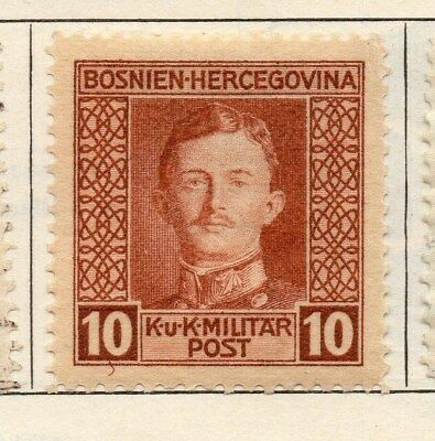 Bosnia Herzegovina 1917 Early Issue Fine Mint Hinged 10h. 113414