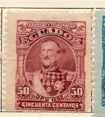 Ecuador 1892 Early Issue Fine Mint Hinged 50c. 113453