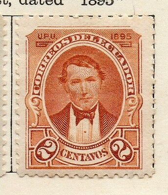 Ecuador 1895 Early Issue Fine Mint Hinged 2c. 113464