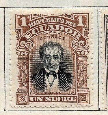 Ecuador 1901 Early Issue Fine Mint Hinged 1S. 113473