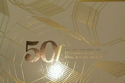 2015 AUSTRALIA PROOF SET GOLD PLATED 50c 50th ANNIVERSARY 6 COIN SET  RAM