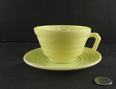 Festive Yellow Moderntone Tea Cup And Saucer