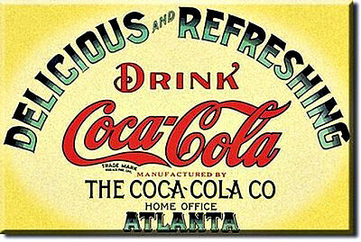 COKE  Keg Label  COCA COLA    Miniature Tin Metal Sign Magnet