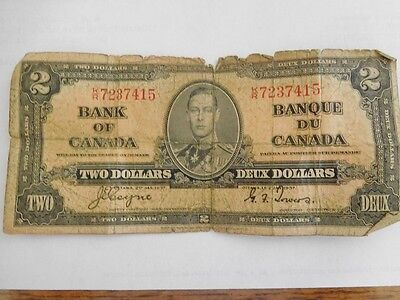 1937 Bank of Canada $2 Bank Note