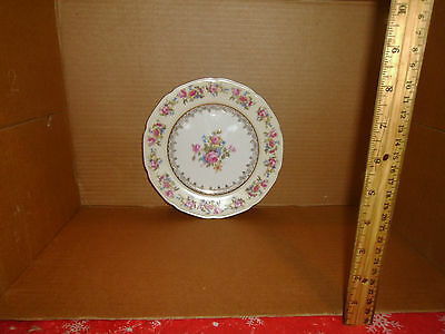 Vintage China Occupied Japan Gold Castle Small Plate Roses Design Lot# 43